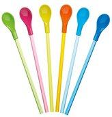 Kitchen Craft Plastic Spoon Straws, 23.5 cm (Set of 6)