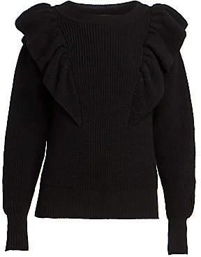 Isabel Marant Women's Blakely Ruffled Wool-Blend Knit Sweater