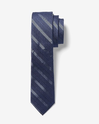 Express Narrow Navy Striped Tie