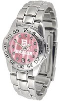 BU Baylor Bears Ladies Sport Watch with Steel Band and Mother of Pearl Dial