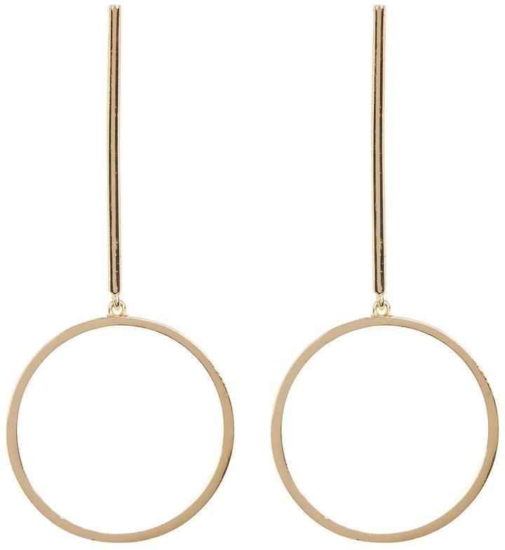 Steve Madden Bar & Circle Drop Earrings