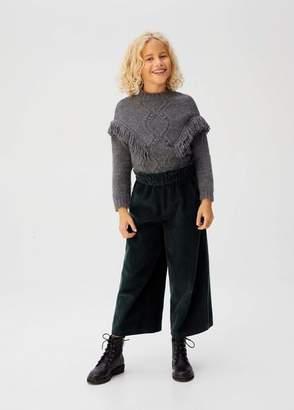 MANGO Corduroy culotte trousers dark green - 4-5 years - Kids