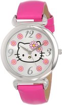 Hello Kitty Sanrio Women's HKAQ5371 Watch With Pink PU Band
