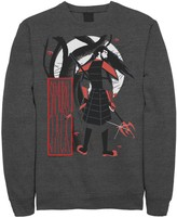 Licensed Character Men's Cartoon Network Samurai Jack Artistic Portrait Fleece Top