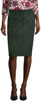Liz Claiborne Patch-Pocket Faux-Suede Pencil Skirt