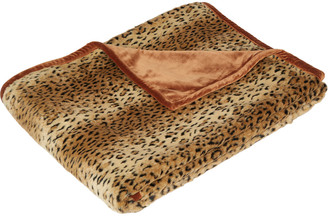 OKA Faux Fur Throw - Cheetah/Rust