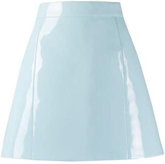 Emilio Pucci celeste blue vinyl skirt