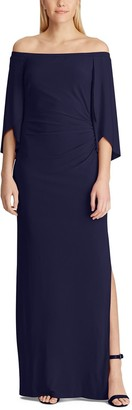Chaps Women's Off-the-Shoulder Evening Dress