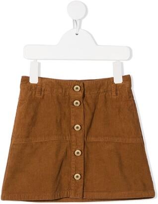 Lanvin Kids Buttoned Corduroy Skirt