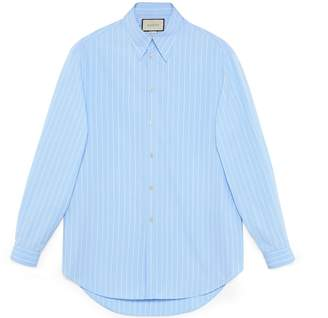 Gucci Oversize striped cotton shirt
