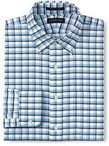 Classic Men's Tall Tailored Fit Pattern Supima No Iron Oxford-Light Sea Blue Multi Stripe