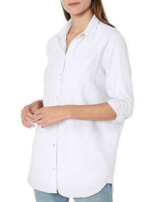 Goodthreads Washed Oxford Long-sleeve Boyfriend Shirt Button,XS