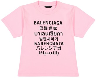 Balenciaga Kids Logo cotton-jersey T-shirt