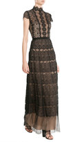 Catherine Deane Floor Length Gown with Lace