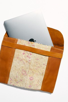 Hiptipico Leather Embroidered Laptop Case