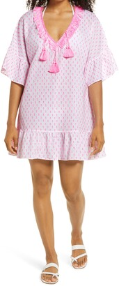 Lilly Pulitzer Kipper Clip Dot Cover-Up Dress