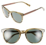 Ted Baker Men's 53Mm Round Sunglasses - Green/ Horn