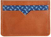 John Lewis Paisley Leather Card Holder, Tan