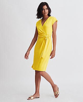 Ann Taylor Cap Sleeve Wrap Dress