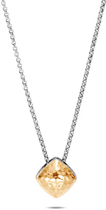 John Hardy Classic Chain Hammered 18k Gold Pendant Necklace, 15mm
