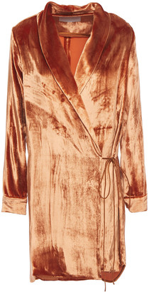 Mason by Michelle Mason Velvet Mini Wrap Dress