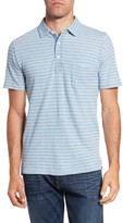 Faherty Men's Stripe Jersey Polo