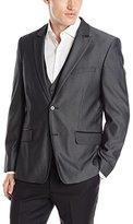 Calvin Klein Men's Jacquard Peak Lapel Tux Jacket