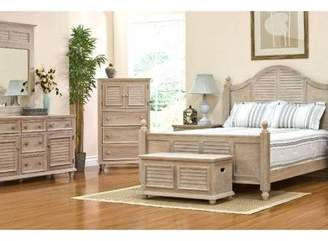 HomePop Cape May Collection 3 Drawer Chest Driftwood