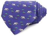 Thomas Pink Elephant & Tree Print Classic Tie