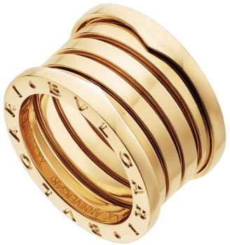 Bvlgari Yellow Gold B.zero1 20th Anniversary Ring