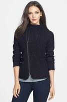 Eileen Fisher Women's Two-Way Zip Funnel Neck Merino Jacket