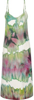 Acne Studios Sway Printed Crepe Midi Dress - Light green