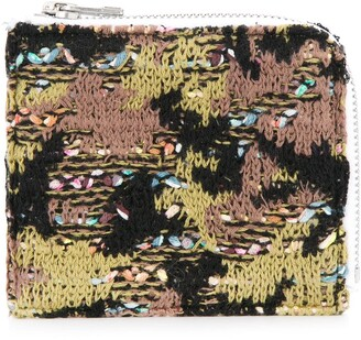 Coohem knit tweed camouflage wallet