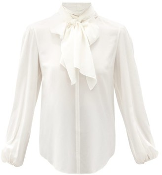 See by Chloe Tie-neck Crepe De Chine Blouse - White