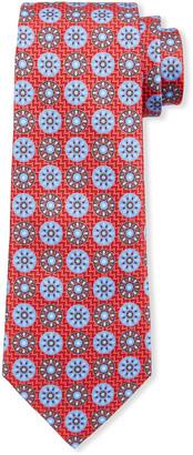 Ermenegildo Zegna Men's Patterned Circles Silk Tie