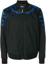 DSQUARED2 camouflage insert bomber jacket - men - Polyester/Spandex/Elastane/Virgin Wool - 46