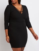 Charlotte Russe Plus Size Caged Bodycon Dress