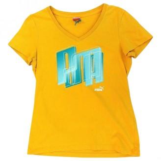 Puma Yellow Cotton Top for Women