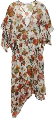 IRO Asymmetric Silk-georgette Dress