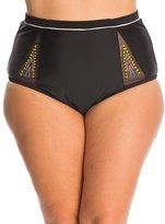 Jessica Simpson Plus Swimwear Plus Size Wild Thing Embroidery High Waist Bikini Bottom 8140037