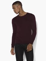 John Varvatos Crewneck Sweater with Shoulder Piping