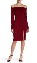 Do & Be Do + Be Long Sleeve Off-the-Shoulder Bodycon Dress