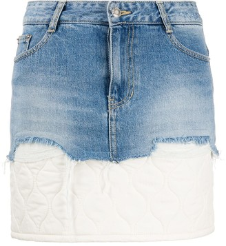 Sjyp Padded Layer Denim Skirt