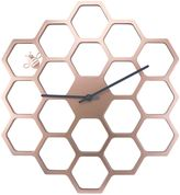 Sterling & Noble Golden Honeycomb Wall Clock in Gold