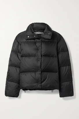 Acne Studios Quilted Shell Down Coat - Black
