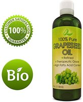 Honeydew Pure Grape Seed Oil Extract Cold Pressed Extraction Moisturizing Antioxidant Oil for Skin Hair and Nails Great for Massage Anti Aging Face Moisturizer Hair Serum With Vitamins E C D for Women and Men