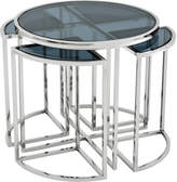 Eichholtz Vicenza Side Table - Stainless Steel