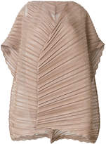 Issey Miyake pleated flared blouse