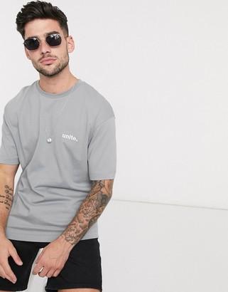 Topman oversized t-shirt with unite logo in t-shirt
