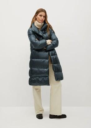 MANGO Quilted midi coat